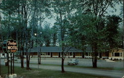 Treetops Motel & Coffee Shop Postcard