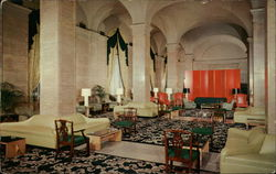 The Main Lobby, Hotel Cleveland, Public Square Postcard