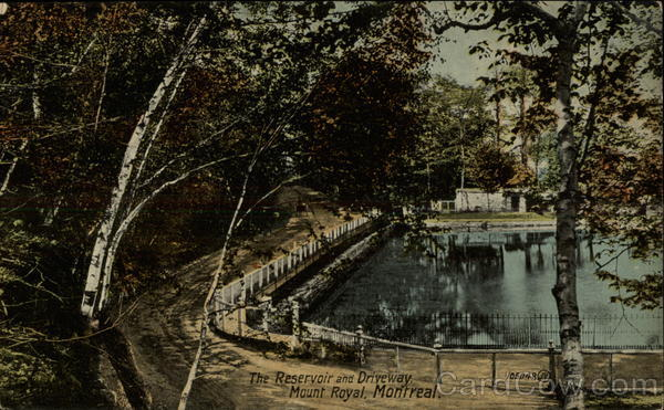 The Reservoir and Driveway, Mount Royal Montreal Canada
