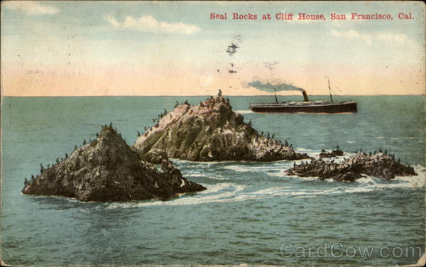 Seal Rocks at Cliff House San Francisco California