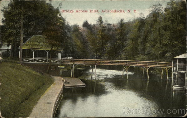 Bridge Across Inlet at Adirondacks New York