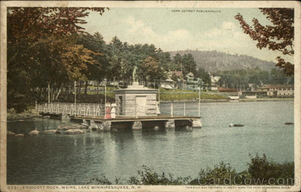 Endicott Rock, Weirs Lake Winnipesaukee New Hampshire
