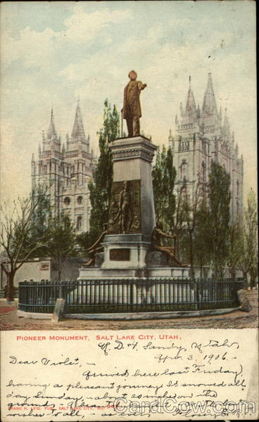Pioneer Monument Salt Lake City Utah