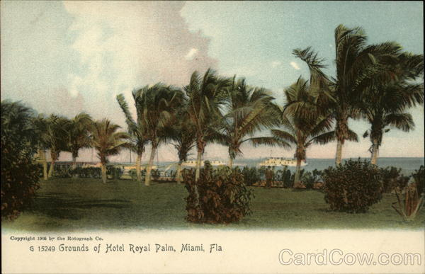 Grounds of Hotel Royal Palm Miami Florida