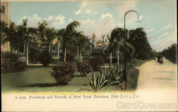 Promenade and Grounds of Hotel Royal Poinciana Palm Beach Florida
