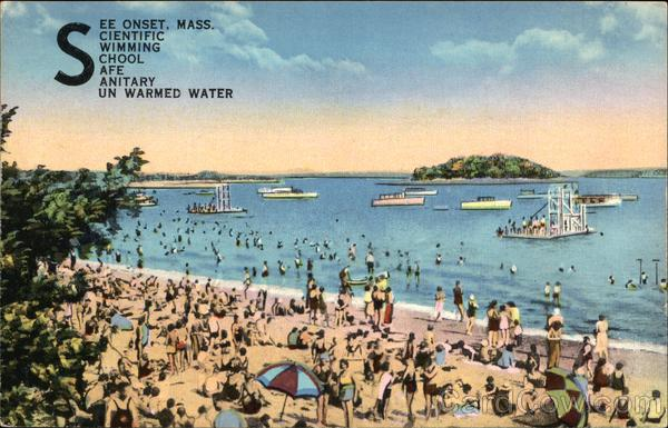 See Onset, Mass. Scientific Swimming School Safe Sanitary Unwarmed Water Massachusetts