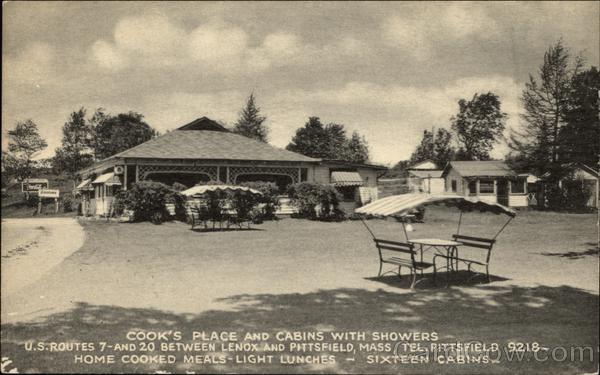Cook's Place and cabins with showers Lenox Massachusetts
