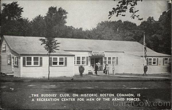 The Buddies' Club, on Historic Boston Common, is a Recreation Center for Men of the Armed Forces Massachusetts