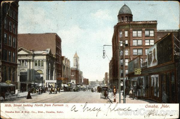 16th Street Looking North from Farnum Street Omaha Nebraska
