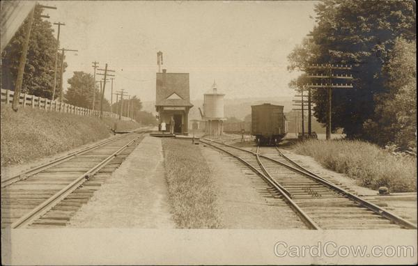 A small train station Franklin New Hampshire Depots