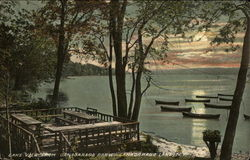 Lake view from Canadarago Park, Canadarago Lake Postcard