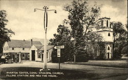 Episcopal Church, Filling Station and New Fire House