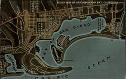 Relief Map of San Diego and Bay