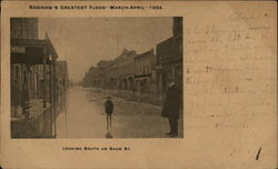 Greatest Flood March-April 1904, Looking South on Baum St