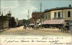 Main St. Looking West Postcard