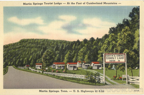 Martin Springs Tourist Lodge, U. S. Highways 41 & 84 Tennessee