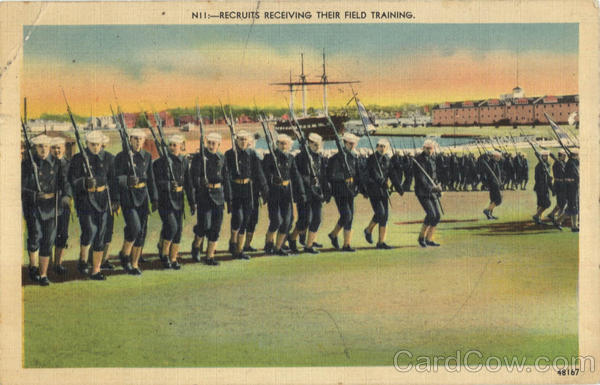Navy Recruits Receiving Their Field Traing