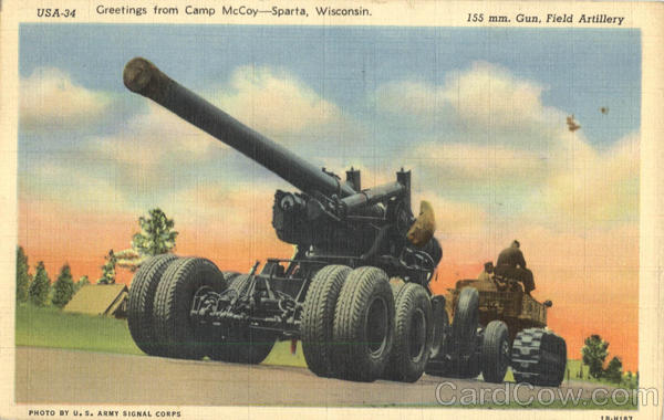 Greetings from Camp McCoy Sparta Wisconsin Army