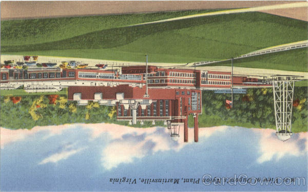 View of Dupont's Nylon Plant Martinsville Virginia