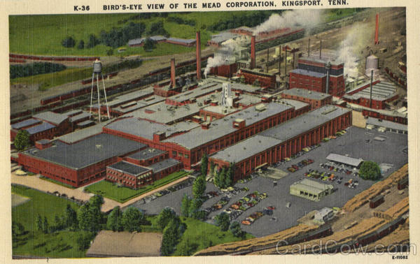 Bird's-eye View of The Mead Corporation Kingsport Tennessee