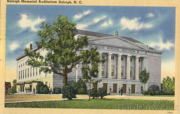 Raleigh Memorial Auditorium Raleigh North Carolina