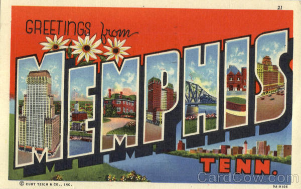 Greetings from Memphis Tennessee Large Letter