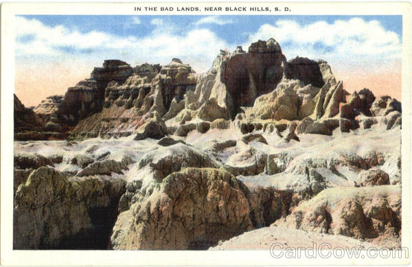 In The Badlands, Near Black Hills South Dakota