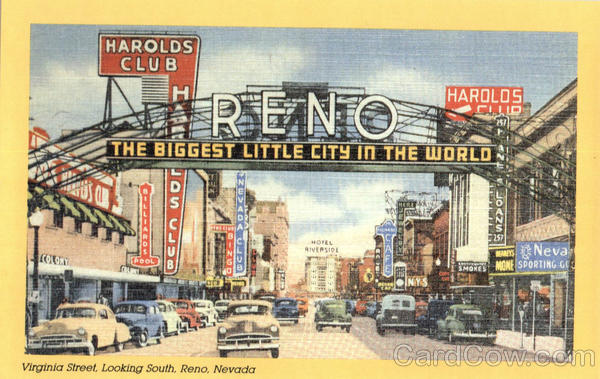 The Biggest Little City in the World, Virgina Street Reno Nevada