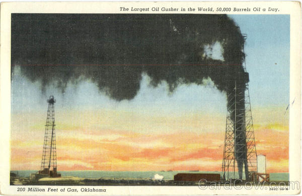 The Largest Oil Gusher in the World Oil Wells