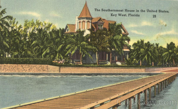 The Southernmost House in the United States Key West Florida