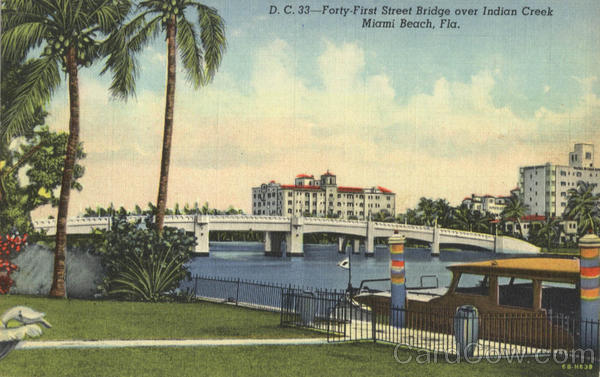 Forty-First Street Bridge over Indian Creek Miami Beach Florida