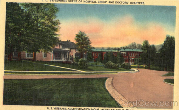 Sunrise Scene of Hospital Group and Doctors Quarters Mountain Home Tennessee