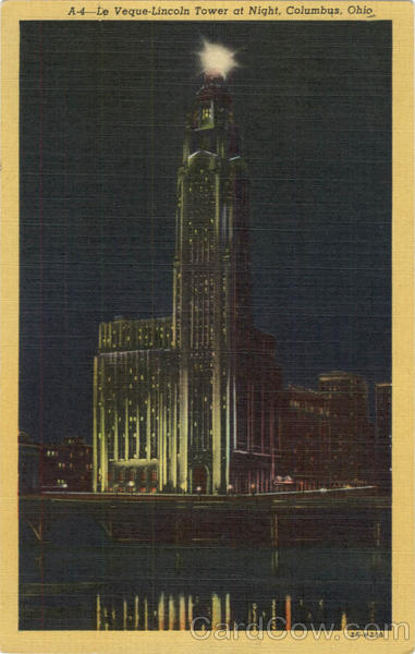 Le Veque - Lincoln Tower at Night Columbus Ohio