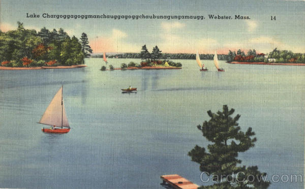 Lake Chargoggagoggmanchauggagoggchaubunagungamaugg Wabster Massachusetts