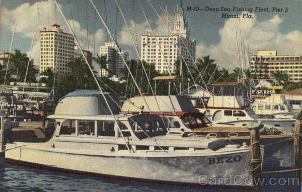 Deep Sea Fishing Fleet Pier 5 Miami Florida