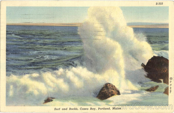 Surf and Rocks, Casco Bay Portland Maine