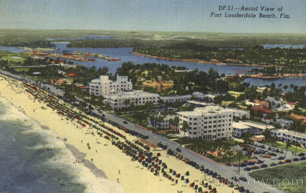 Aerial View of Fort lauderdale Beach Florida