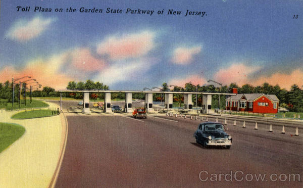 Toll Plaza On The Garden State Parkway Of New Jersey