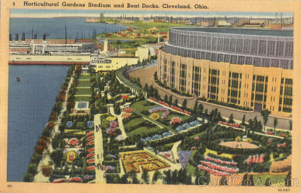 Horticultural Gardens Stadium and Boat Docks Cleveland Ohio