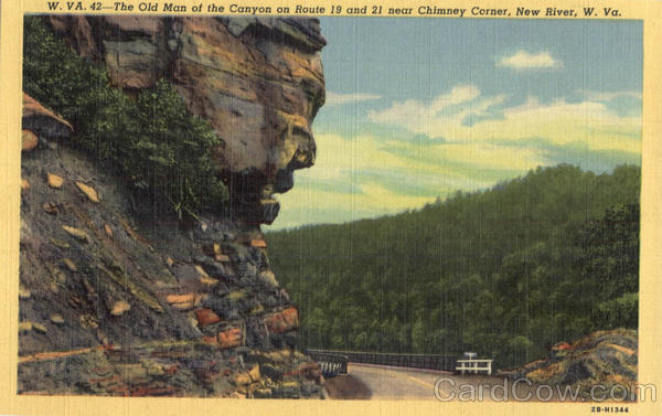 The Old Man Of The Canyon Chimney Corner New River Wv