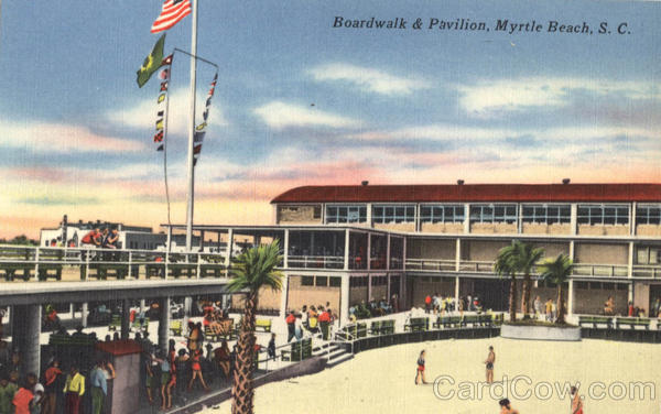Boardwalk & Pavilion Myrtle Beach South Carolina