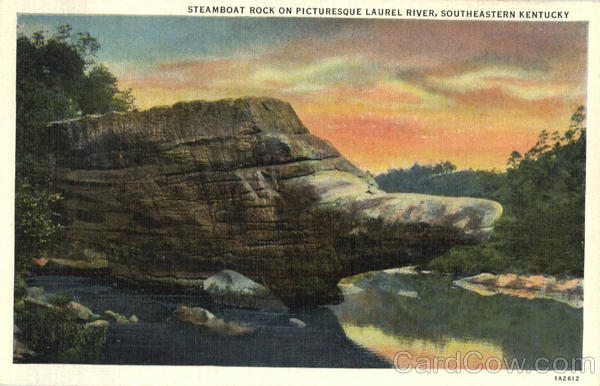 Steamboat Rock on Picturesque Laurel River Scenic Kentucky
