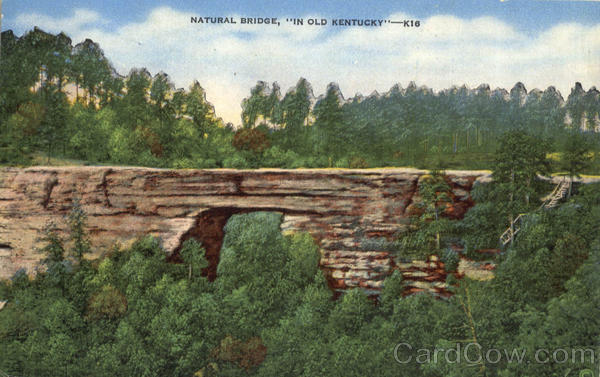 Natural Bridge In Old Kentucky Scenic