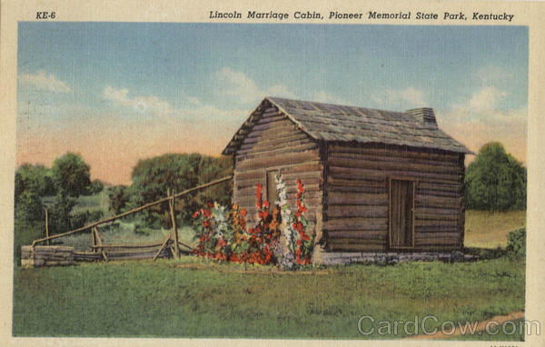 Lincoln Marriage Cabin, Pioneer Memorial State Park Scenic Kentucky