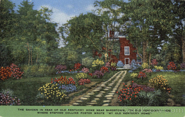 The Garden in Rear of Old Kentucky Home Scenic