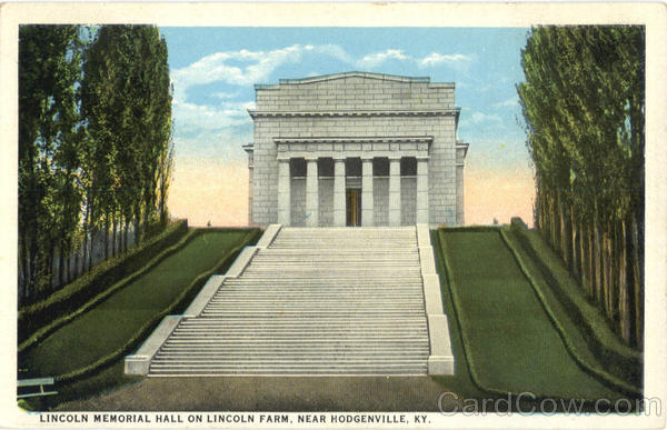 Lincoln Memorial Hall on Lincoln Farm Hodgenville Kentucky