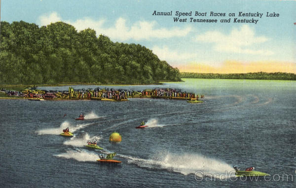 Annual Speed Boat Races on Kentucky Lake West Tennessee