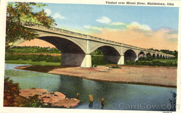 Viaduct over Miami River Middletown Ohio