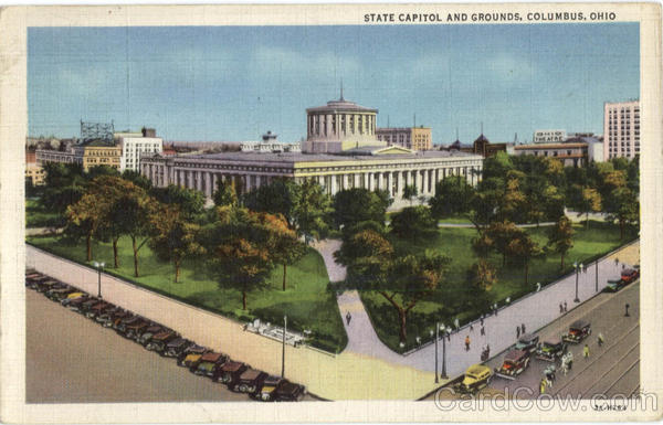 State Capitol And Grounds Columbus Ohio