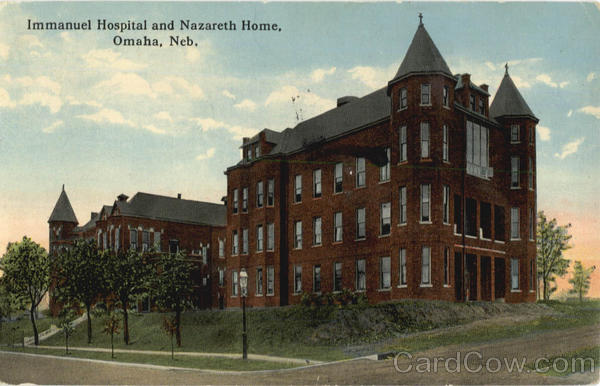 Immanuel Hospital and Nazareth Home Omaha Nebraska